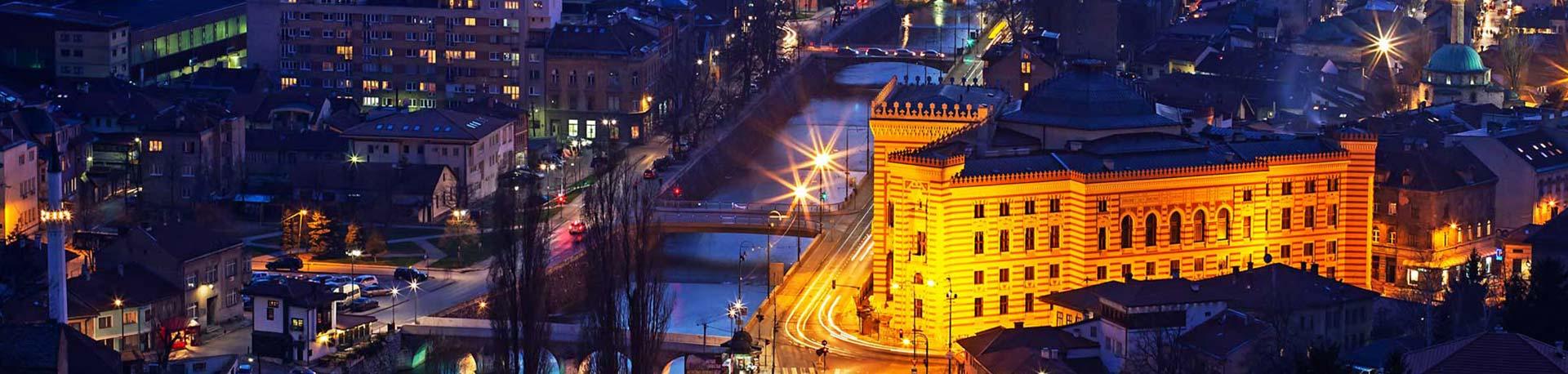 Beograd Sarajevo - pogled na Sarajevo